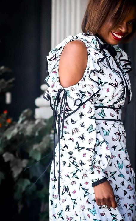 buffterfly midi dress worn with alexandre birman sandals by fashion blogger-15