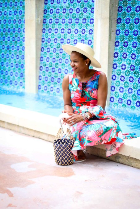 how to style a floral dress to the beach by atlanta fashion blogger-2