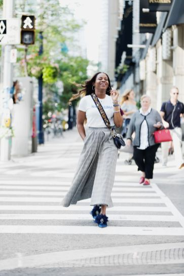 How to look streetstyle-chic in plaid culottes
