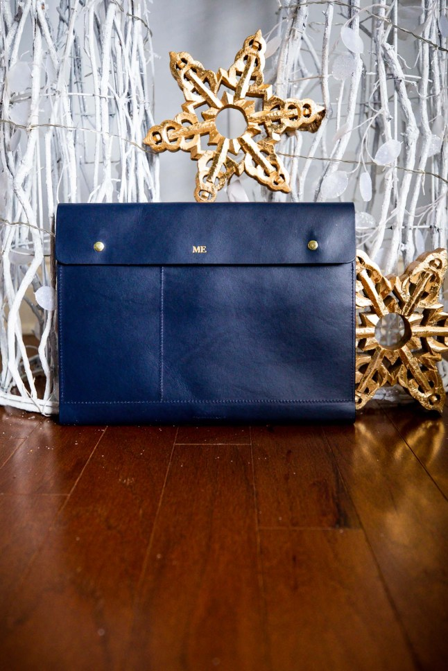 Fashion blogger Monica Awe-Etuk selects the best holiday gifts from Mark & Graham. Leather Tech Envelope