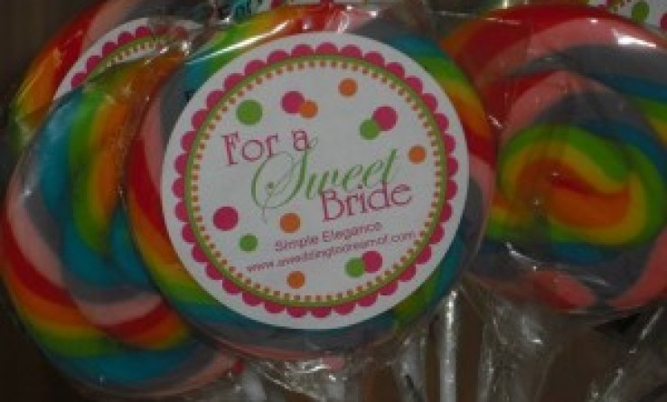 Wedding Favor Lllipops