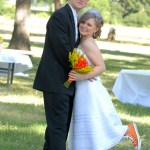 The Bride & Groom wore Converse Shoes in the Wedding Colors // A Well Crafted Party
