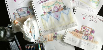 {Inspiration to Reality} Sketched Wedding Vignettes