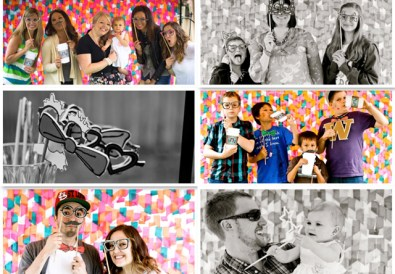Photos from a First Birthday Photo Booth