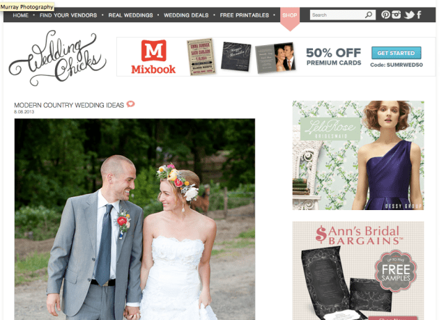Modern Country Wedding Featured on Wedding Chicks