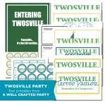 Welcome to Twosville Town Themed Birthday Party Free Printables