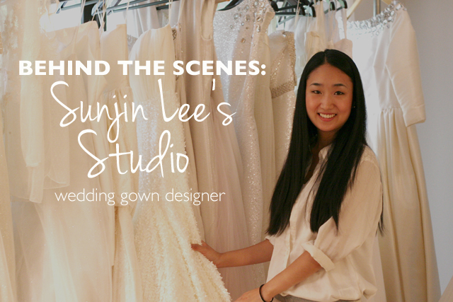 Behind the Scenes of a wedding gown designer // A Well Crafted Party // featuring Sunjin Lee's Studio Space