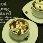 Baked Eggnog Custard Holiday Recipe // A Well Crafted Party