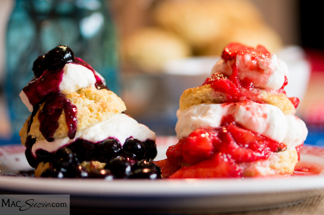 Red, White, & Blue Shortcakes from MacSuzie featured on A Well Crafted Party