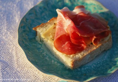 Open Faced Prosciutto Sandwich // A Well Crafted Party