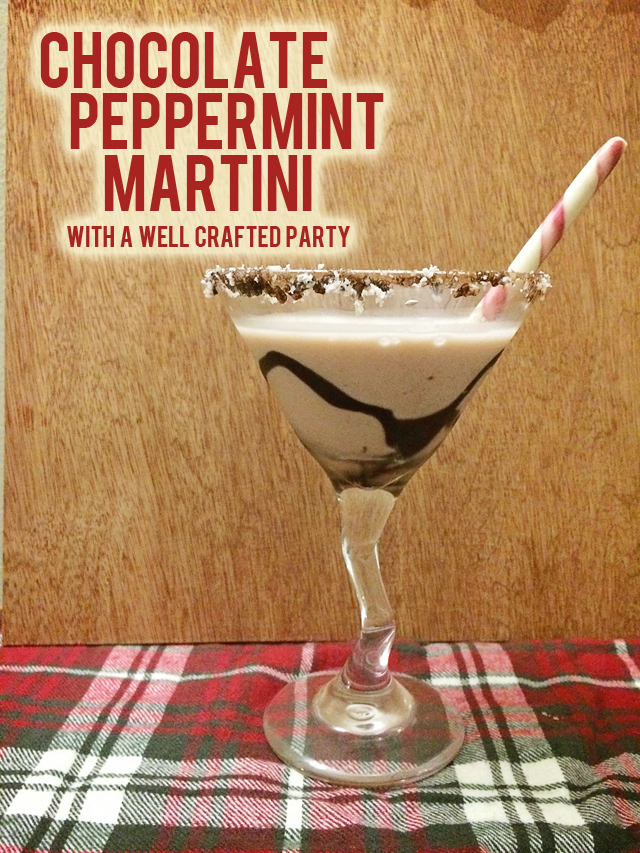 Chocolate Peppermint Martini // A Well Crafted Party