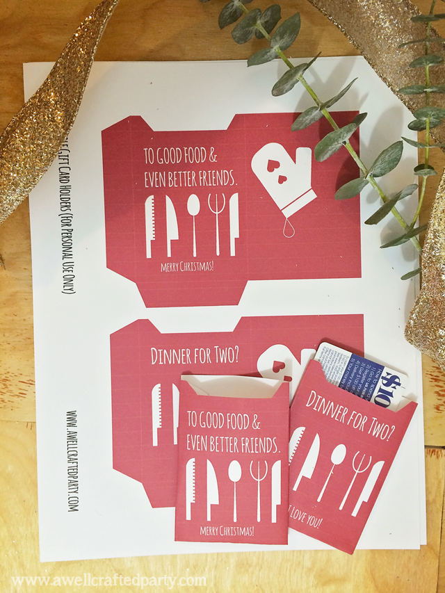 Free Printable Gift Card Printable // A Well Crafted Party