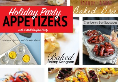 Holiday Party Appetizers Round-Up // A Well Crafted Party