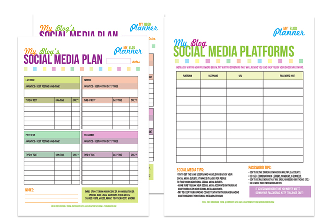 Free Social Media Planner - A Well Crafted Party