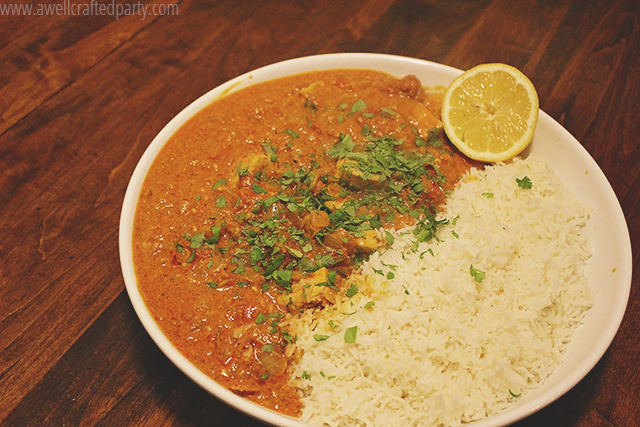 Punjabi Chicken Tikka Marsala recipe from RawSpiceBar featured on A Well Crafted Party.