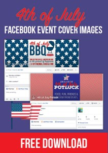 Free downloadable forth of July Facebook Event Covers