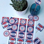 Free Printable 4th of July Party Circles