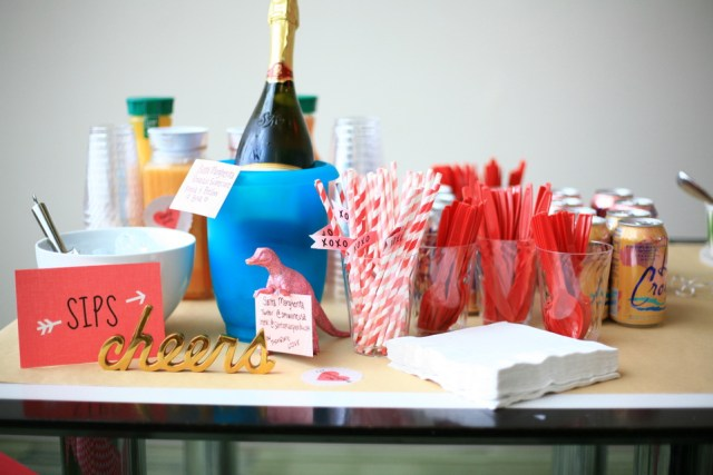 Simple and beautiful party decor compliments of Minted