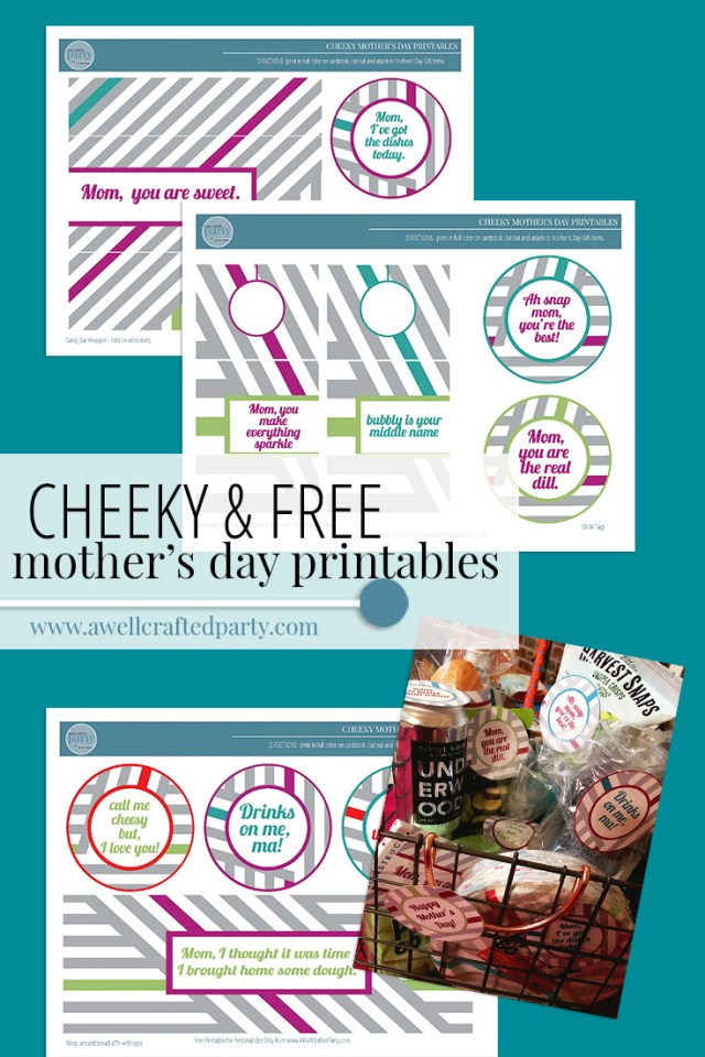Cheeky Mother's Day Picnic Printables- A Well Crafted Party