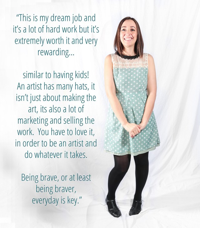 Working Moms series: Erika about being a full time artist — A Well Crafted Party