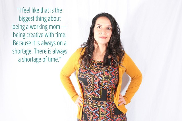 Working in Motherhood can be a struggle... see how Roxana works with her time constraints in the Working Moms series on A Well Crafted Party - photos by www.mommabearmag.com