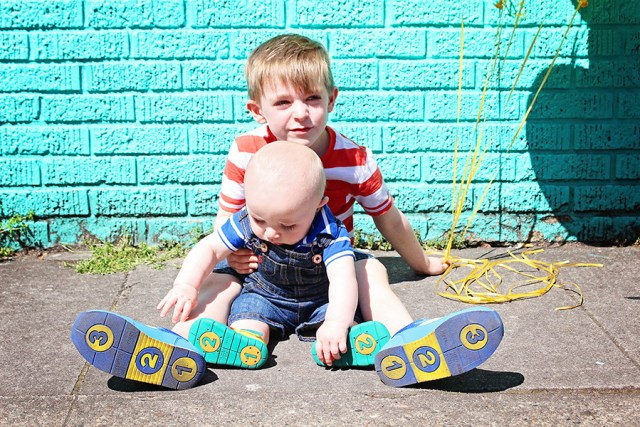 Bright Colored Kid Casual Wear Style featuring IFME shoewear for kids sponsored post featured on A Well Crafted Party