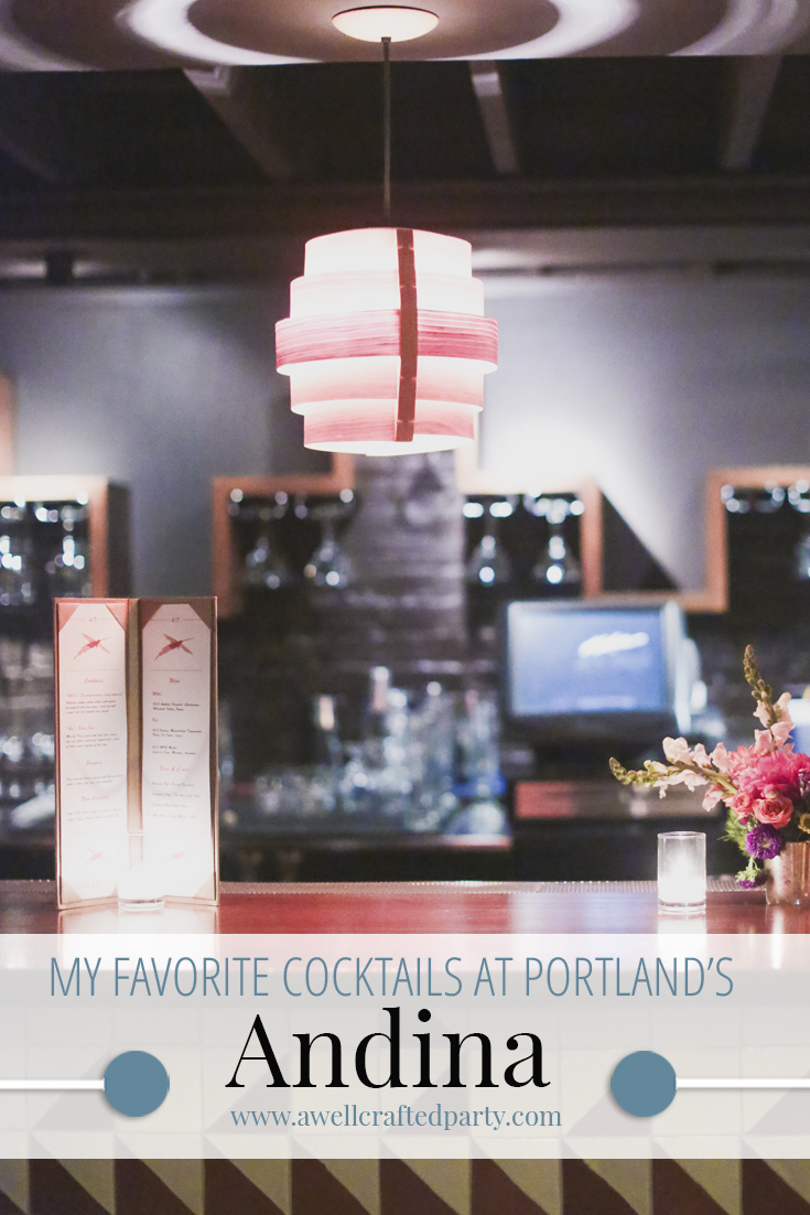 What to drink at Portland's Andina Restaurant?