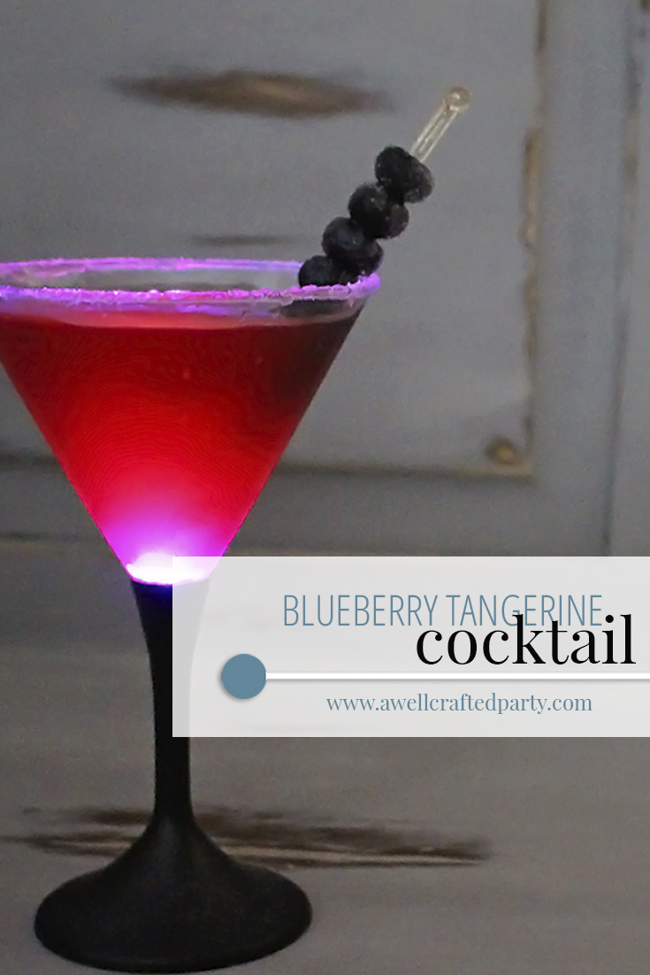 Blueberry Tangerine Cocktail featured on A Well Crafted Party