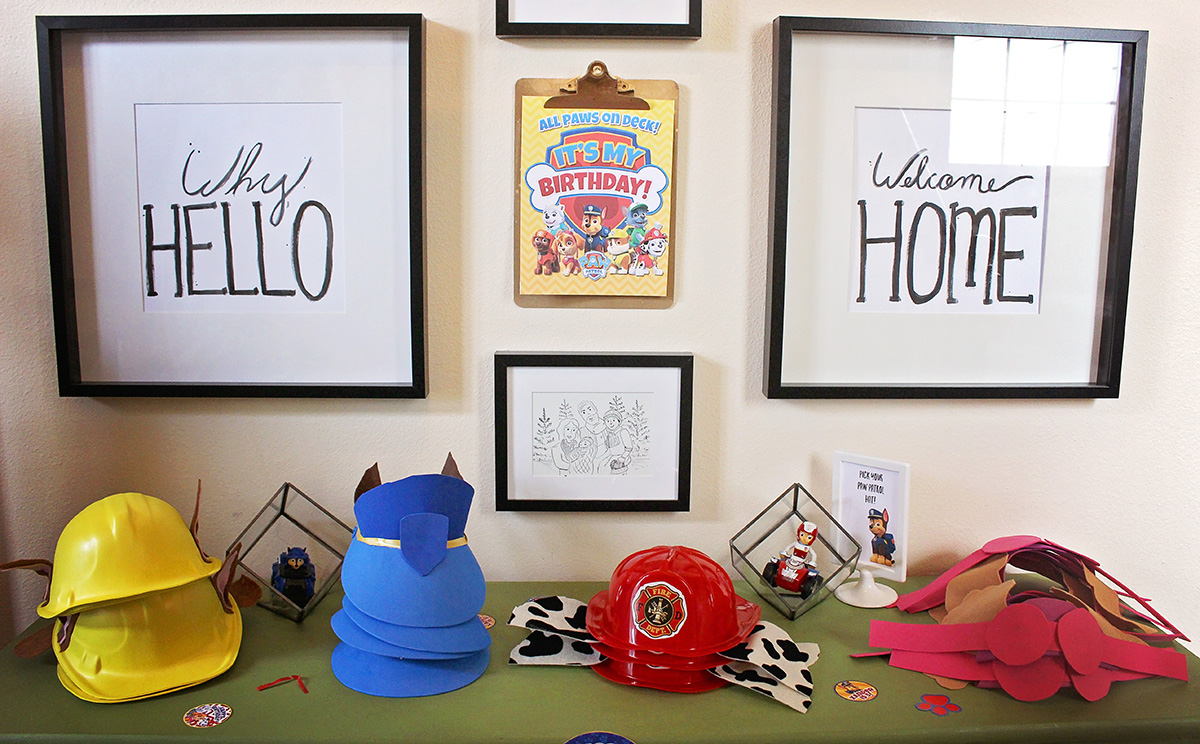 DIY Paw Patrol Party Hats