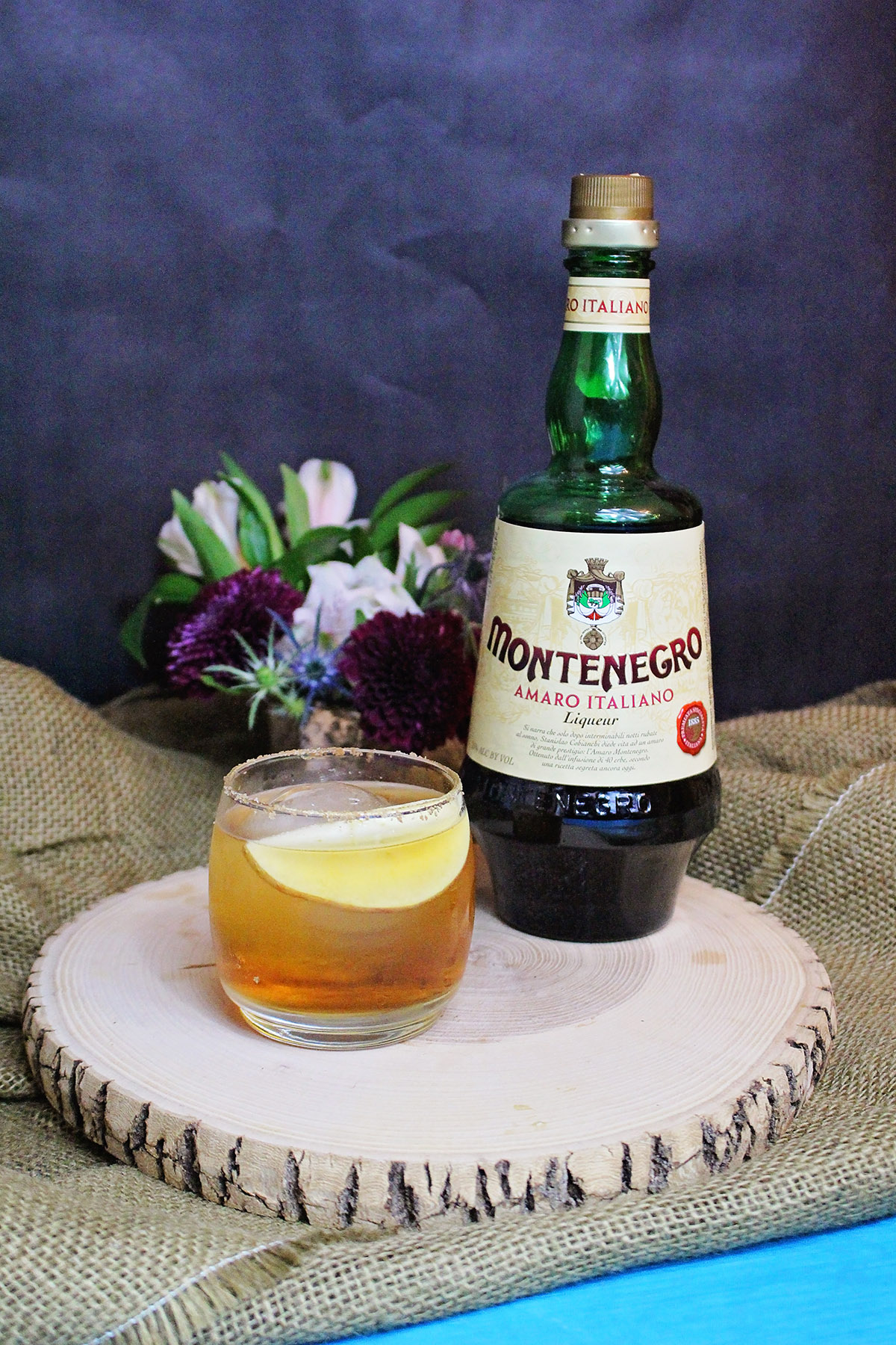 Fall Cocktail with Apple, Bourbon, and Amaro Montenegro