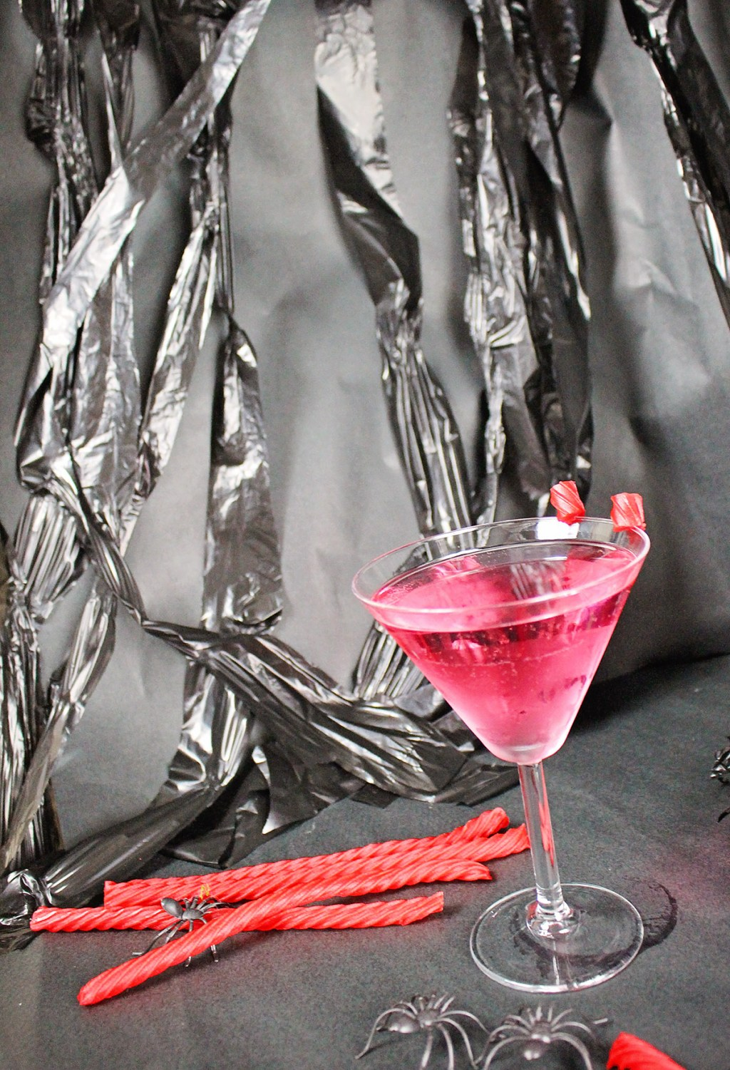 Halloween Cocktail with Red Vines from A Well Crafted Party