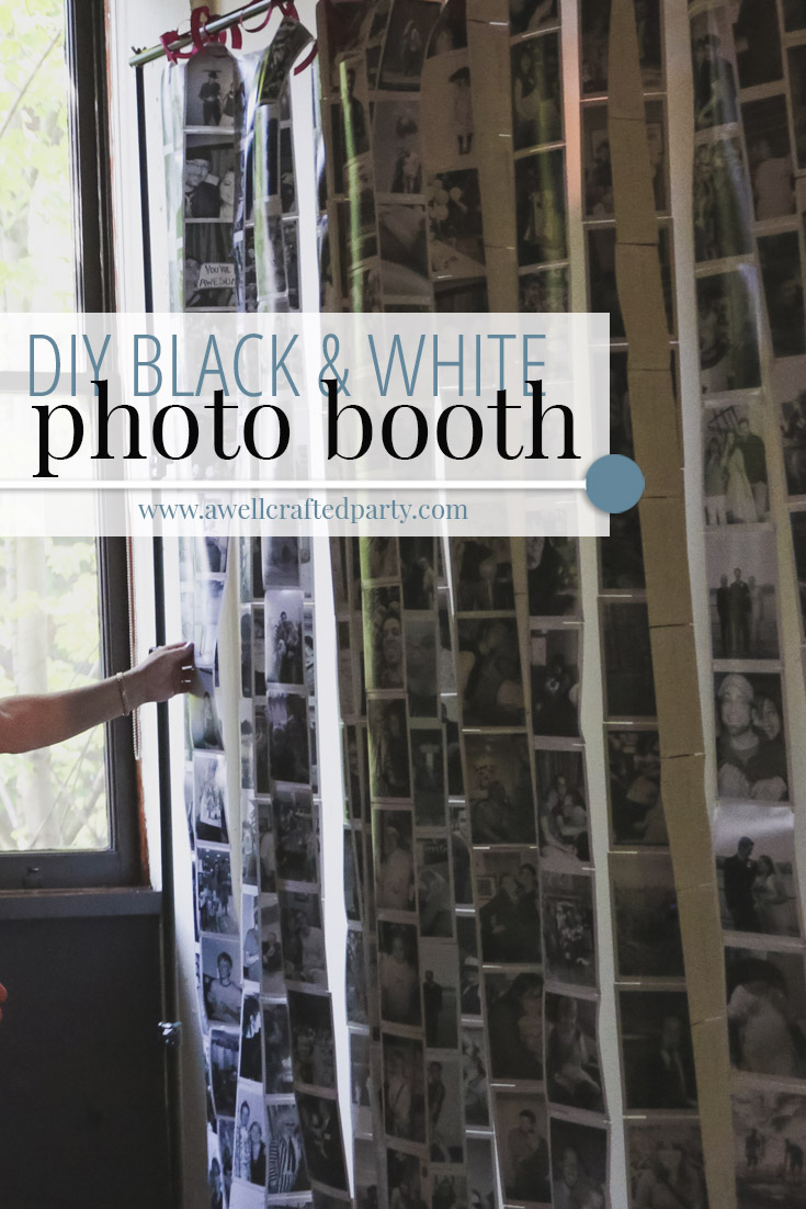 Photo Memory Black and White Photo Booth Backdrop – A Well