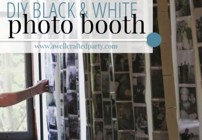 DIY Black and White Photo Backdrop
