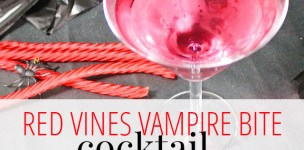 Vampire Bite Cocktail with Red Vines from A Well Crafted Party