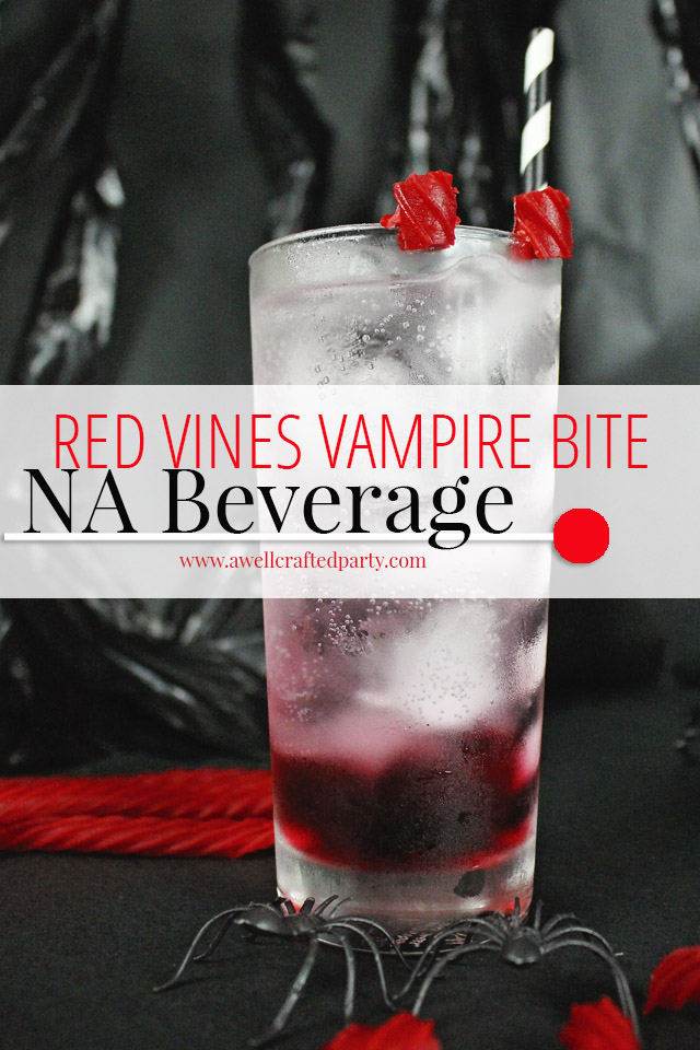 Halloween Drinks - Non Alcoholic Beverage with Red Vines from A Well Crafted Party