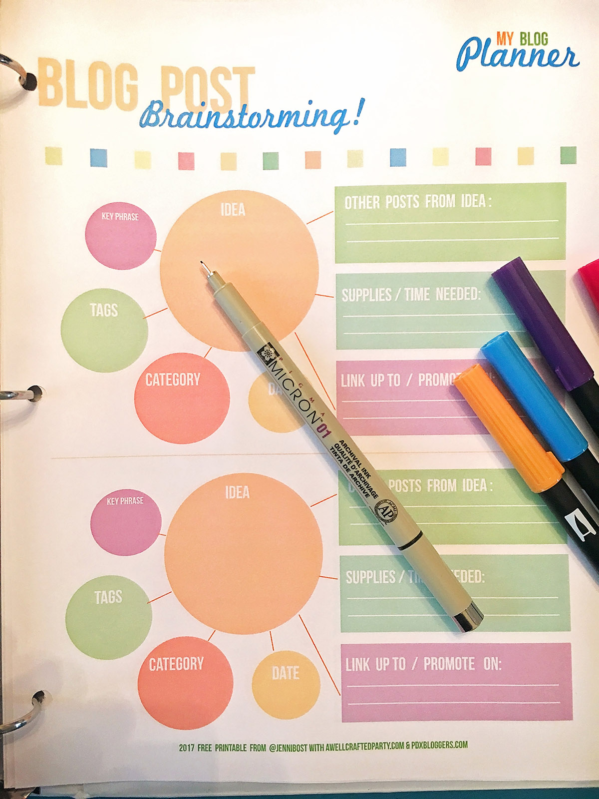 Blog Brainstorming Worksheets Free Printables - A Well Crafted Party