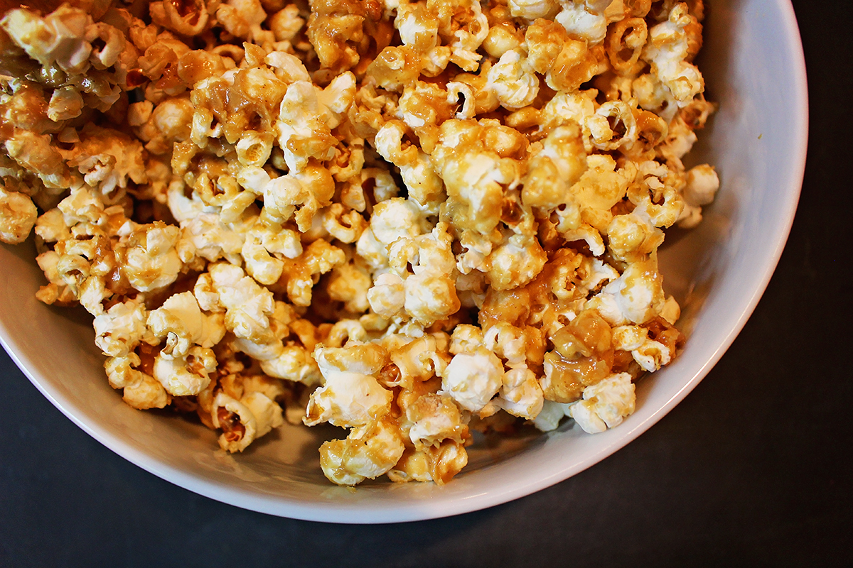 Peanut Butter Honey Popcorn