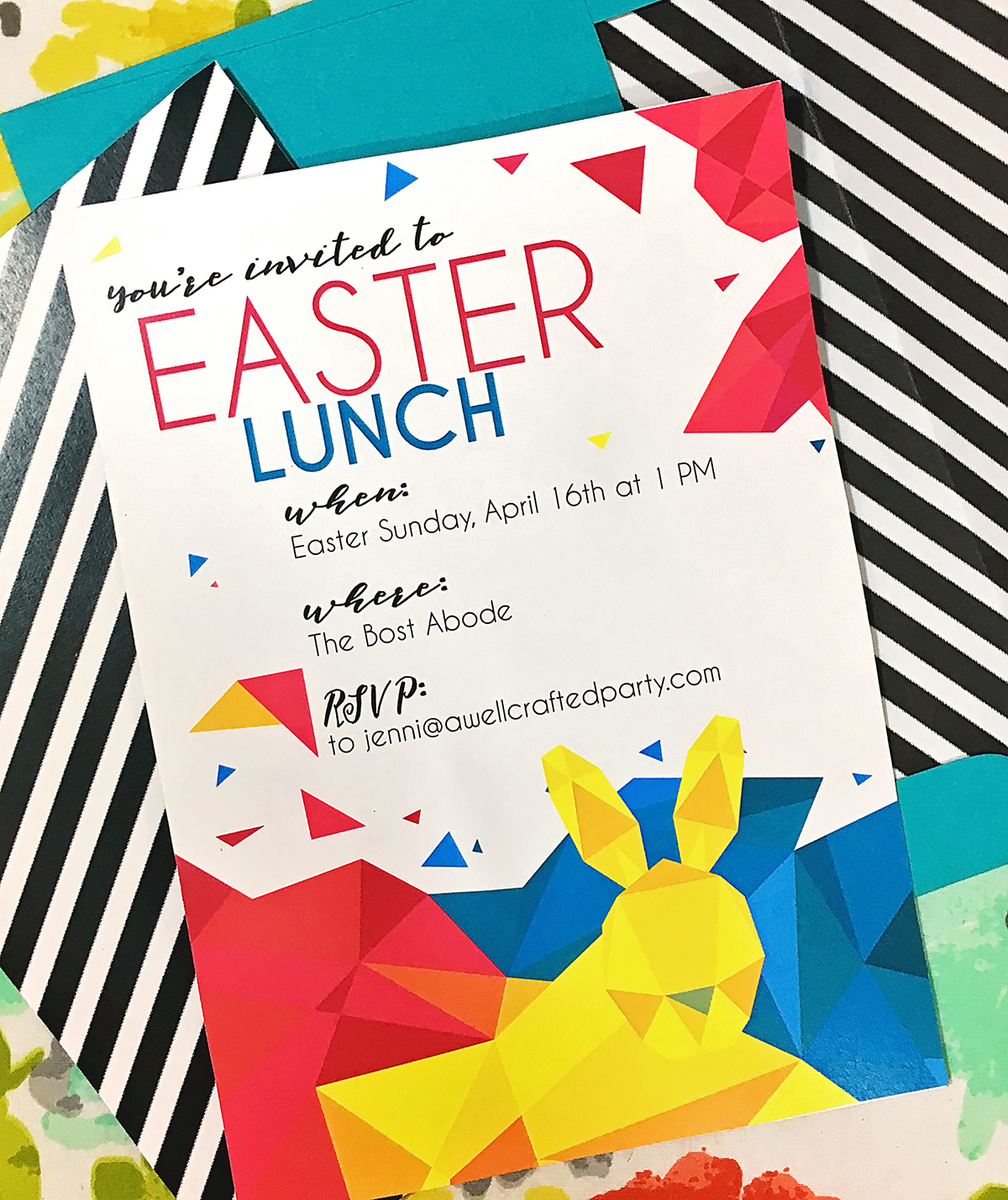 modern geometric easter free printables | A Well Crafted Party