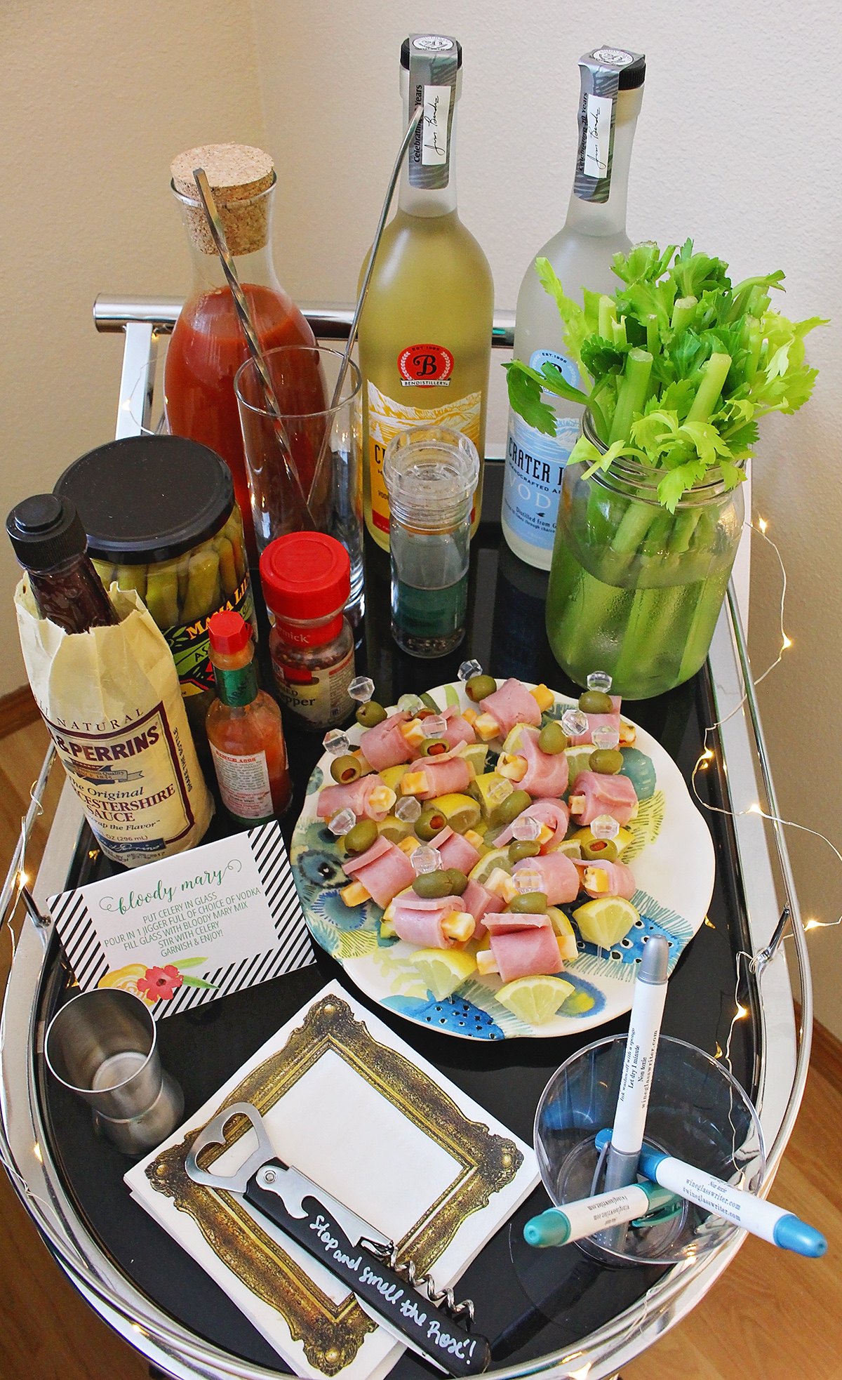 Graduation Party - Bloody Mary Bar for a perfect addition to your graduation brunch | A Well Crafted Party