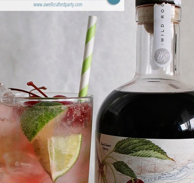 Cherry Limeade Cocktail | A Well Crafted Party