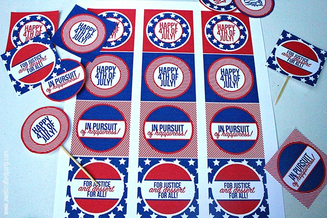 Free Printables Fourth of July Party Pritnables | A Well Crafted Party