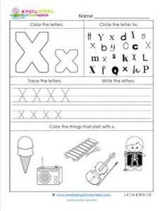Abc Worksheets Letter X Alphabet Worksheets A Wellspring