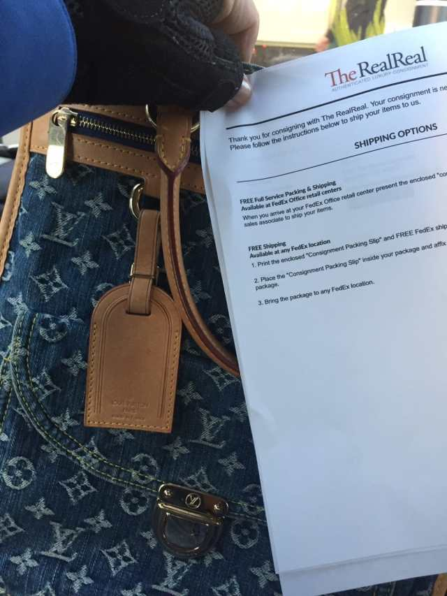 Mailing a Louis Vuitton to The Real Real