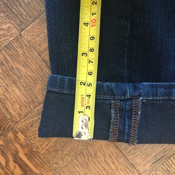 Shortening Jeans on A Well Styled Life