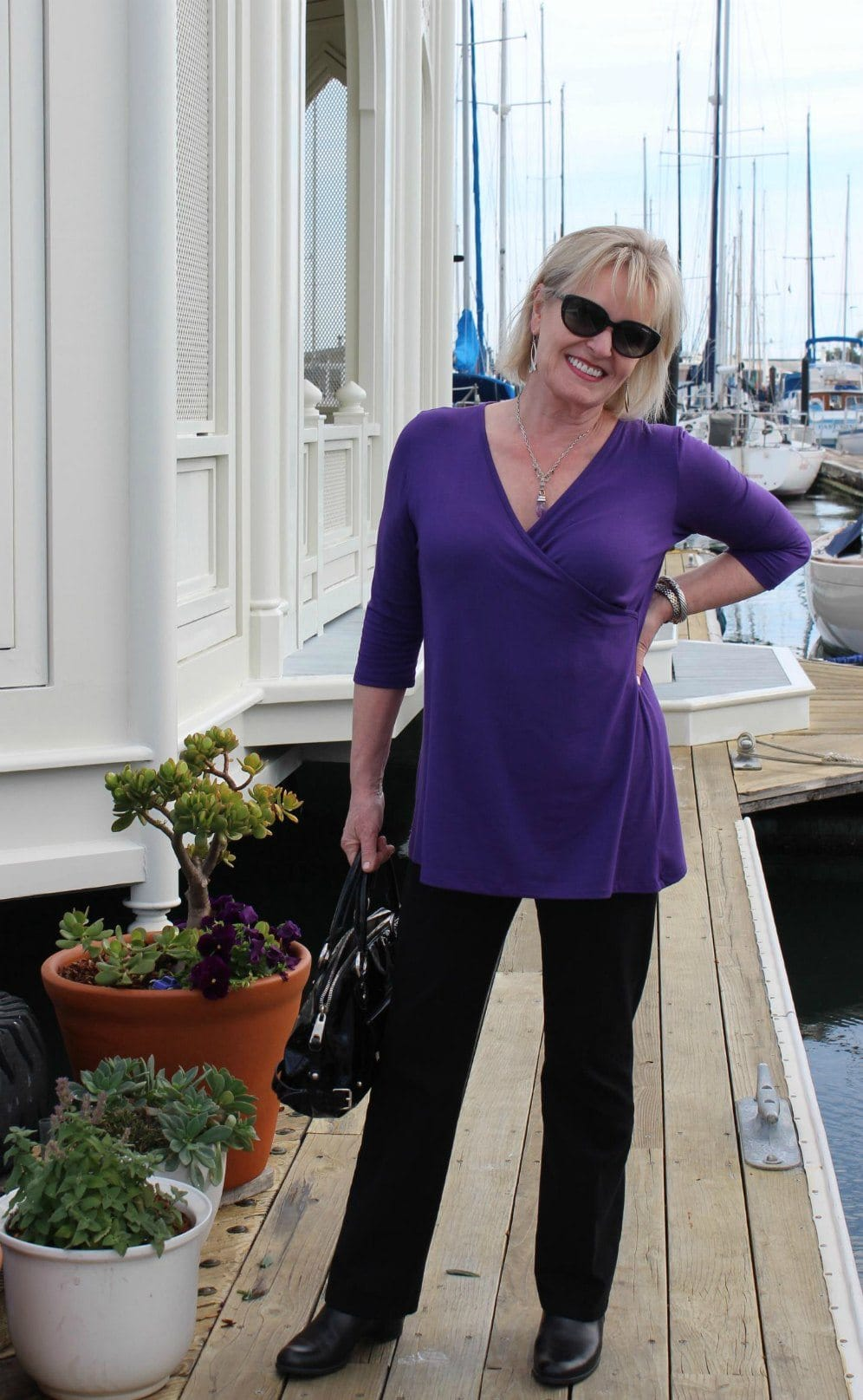 Jennifer Connolly of A Well Styled Life wearing Covered Perfectly