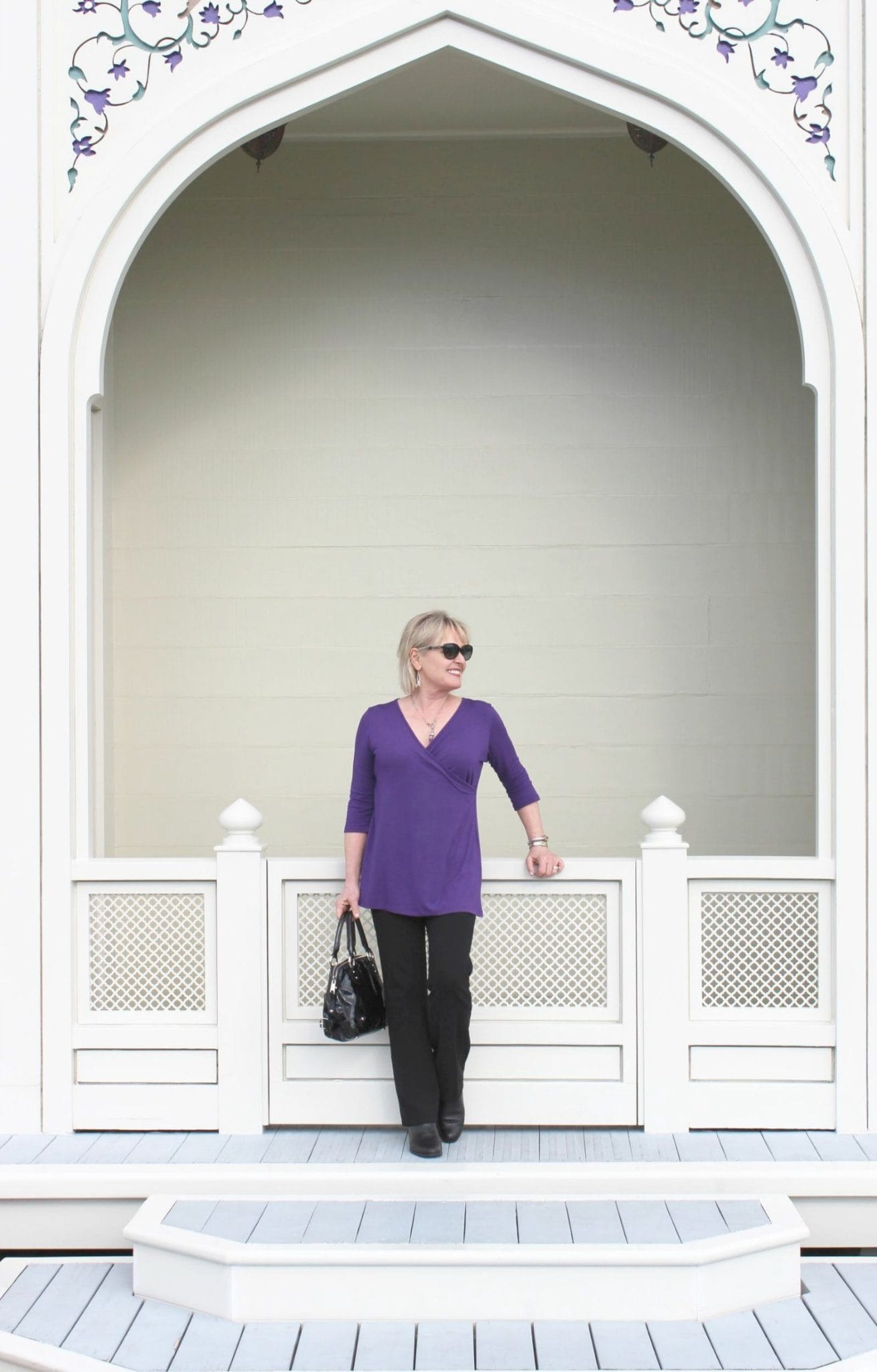 Jennifer Connolly of A Well Styled Life at the Taj Mahal Houseboat