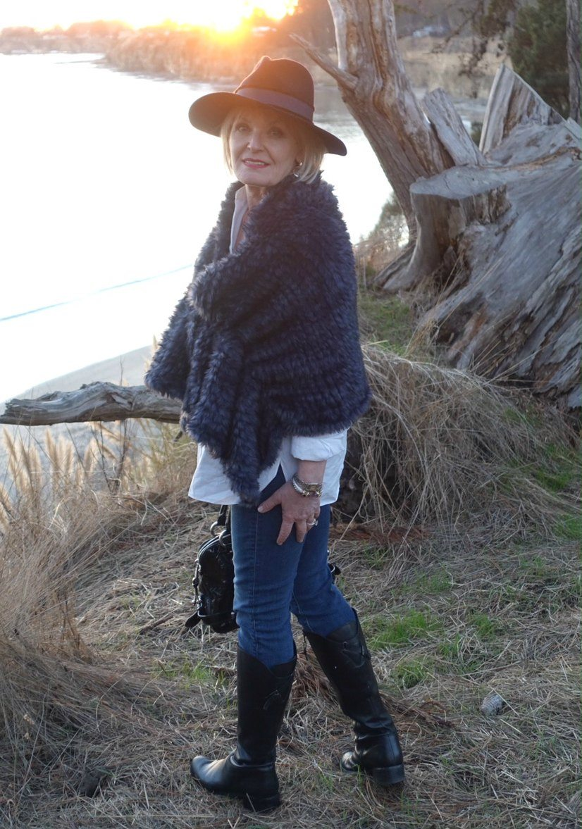 Jennifer Connolly of A Well Styled Life at the CA coast