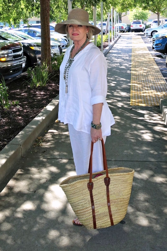 Keeping Cool in White Linen