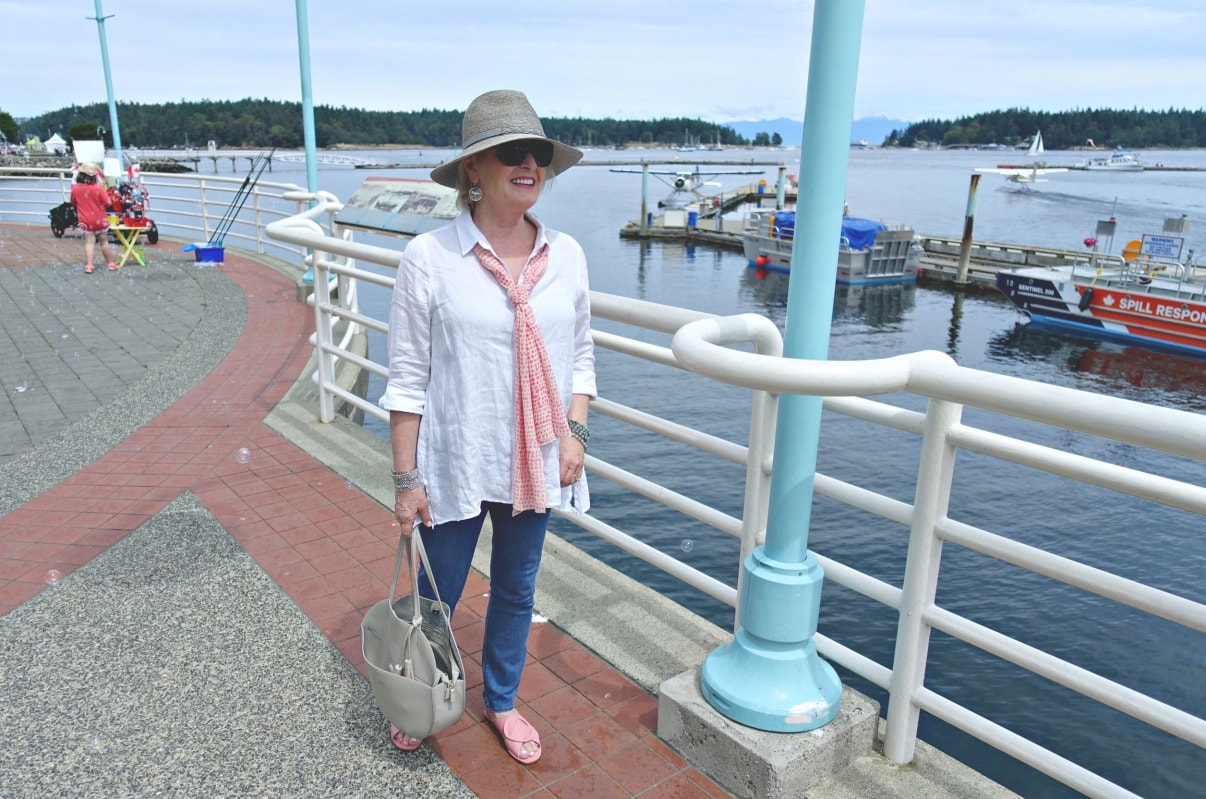 Look of the Week: Linen and Down