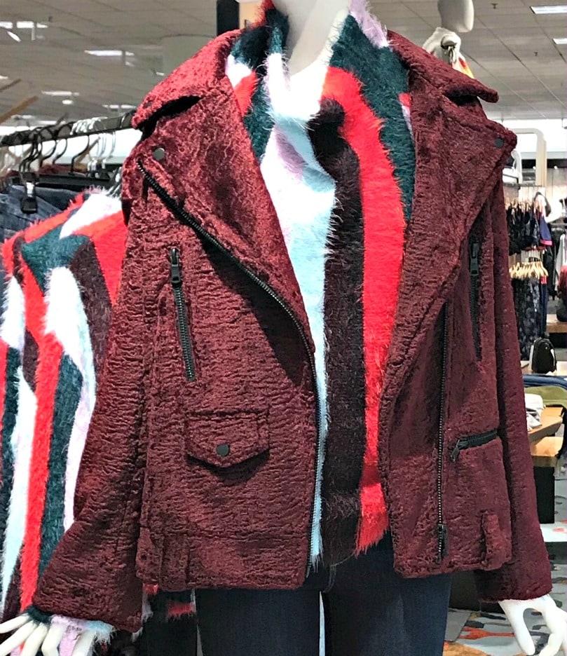 faux lambskin biker jacket from Nordstrom